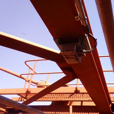 iBelt in iron ore mine, allowing SCADA systems to optimize flow into the surge bin